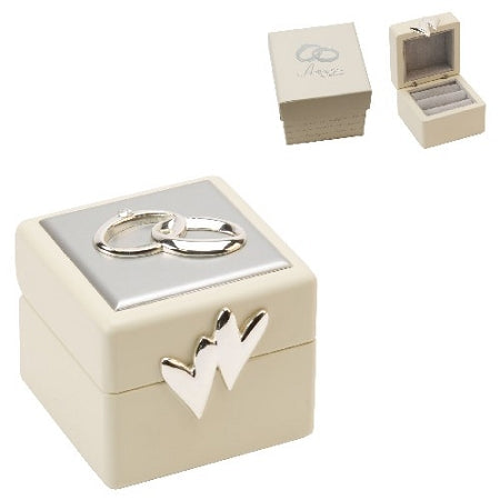 Amore Wedding Ring Box With Icons And Crystals