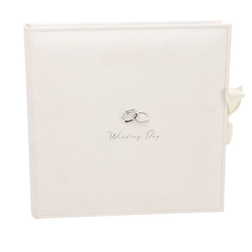 Amore Suede Wedding Collage Album With Silver Rings 25 Pages
