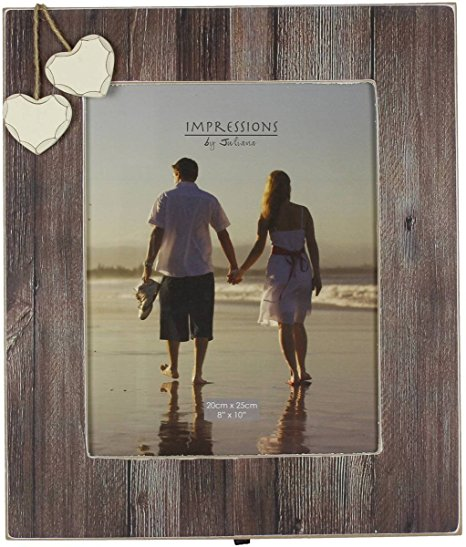 Juliana Home Living Distressed Wood Frame 2 Heart 4x6