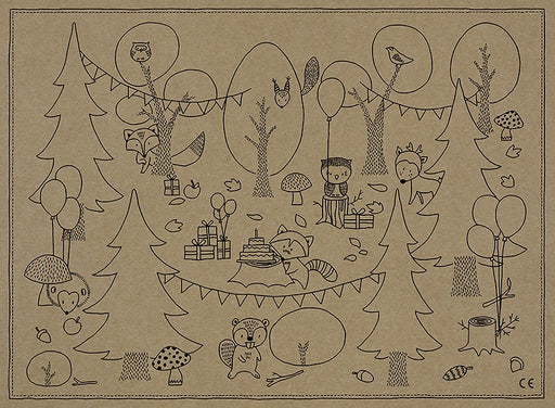Colouring pages Woodland 6pc