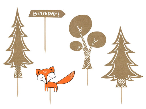 Toppers Woodland, mix 5pc