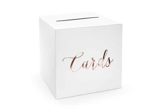 Wedding card box - Cards, rose gold, 24x24x24cm