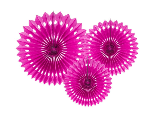Tissue fan, dark pink, 20-30cm (1 pkt / 3 pc.)