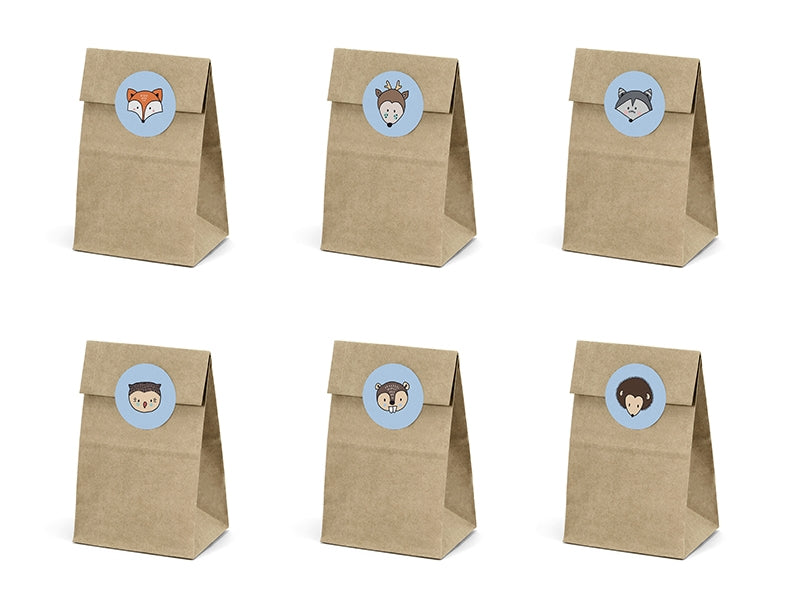 Treat bags Woodland 6pc