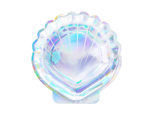 Plates Mermaid - Seashell, iridescent, 18.5cm (1 pkt / 6 pc.)