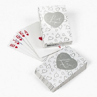 Perfectly Plain Collection Heart Shaped Playing Cards