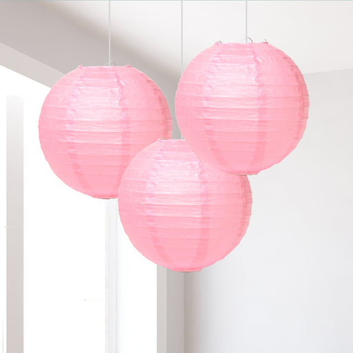 8in/20cm Small Light Pink Lanterns Pack of 3