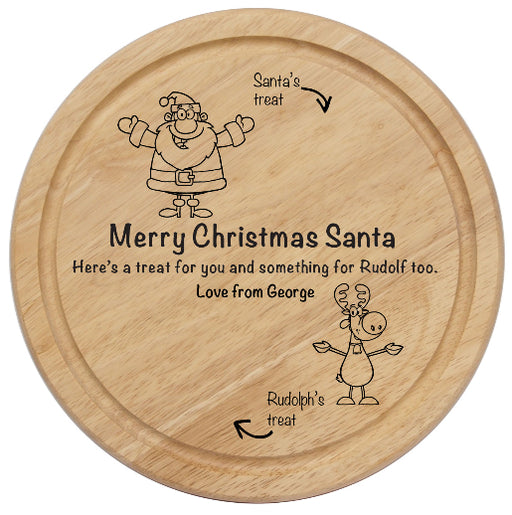 Personalised Christmas Santas Treat Board