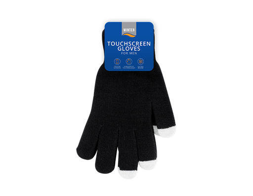 Mens Touchscreen Gloves Assorted Colours