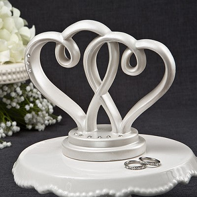 Two Hearts Cake Topper