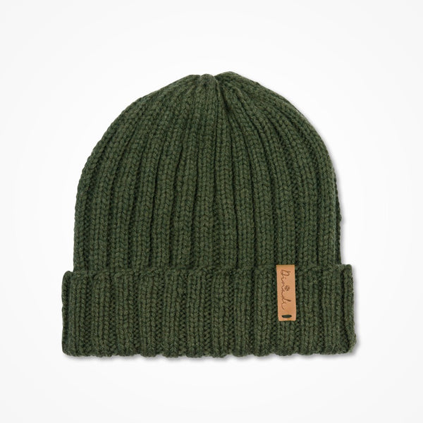 Merino Rib Hat - Forest Green