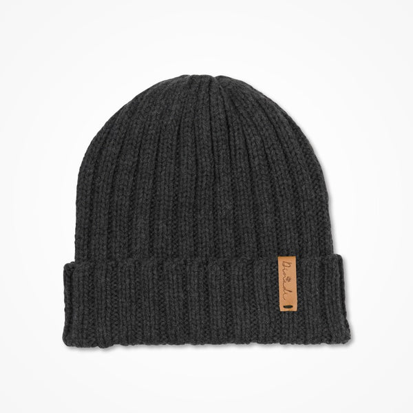 Merino Rib Hat - Charcoal Grey