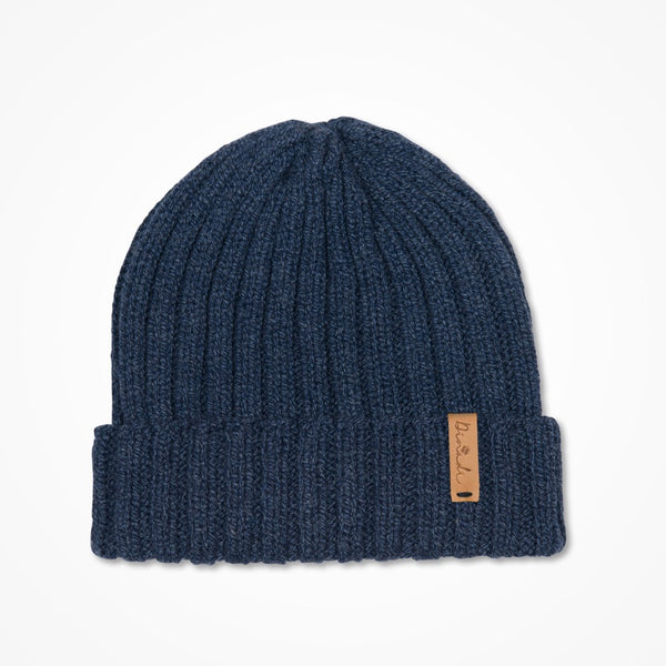 Merino Rib Hat - Midnight Blue