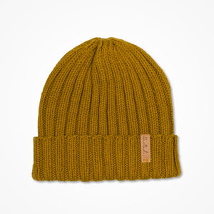 Merino Rib Hat - Mustard Yellow
