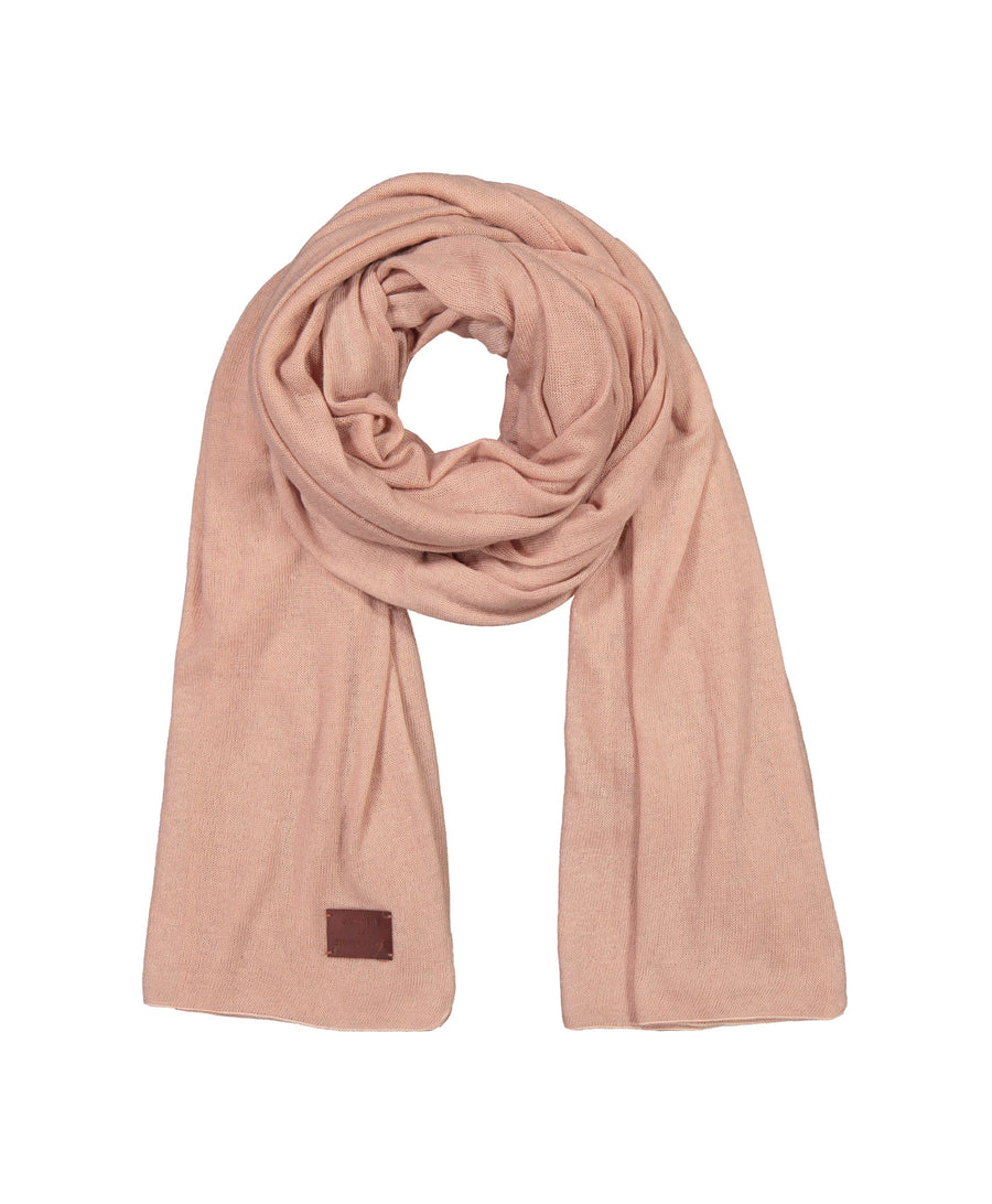 Large Knitted Cashmere Scarf - Magnolia