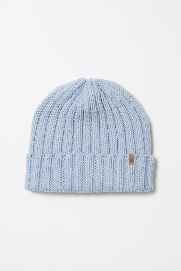 Merino Rib Hat - Ice Blue