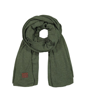 Large Knitted Cashmere Scarf - Pine