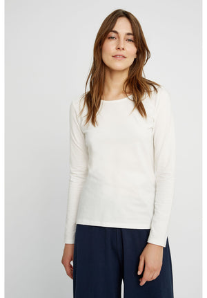 Fallon Long Sleeve Top in White