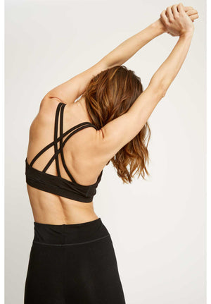 Yoga Cross Back Top / Black
