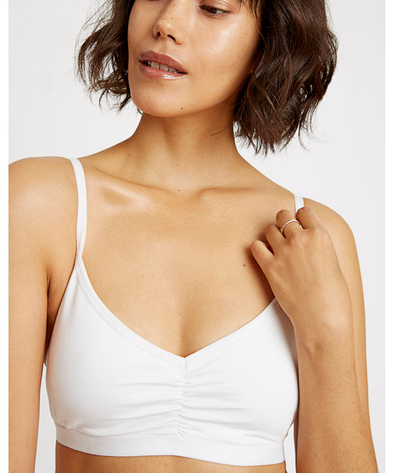 Soft Bra Top / White