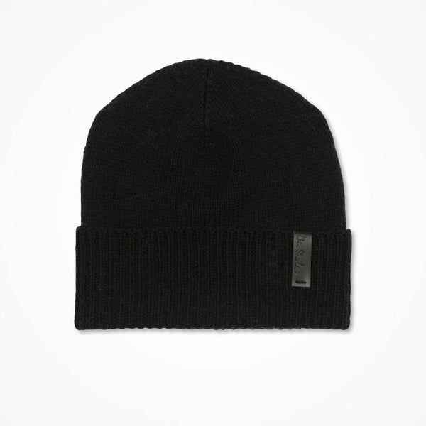 Merino Cuffed Hat - Black