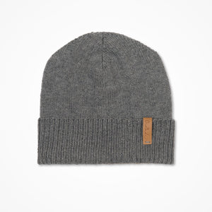 Merino Cuffed Hat - Pebble Grey