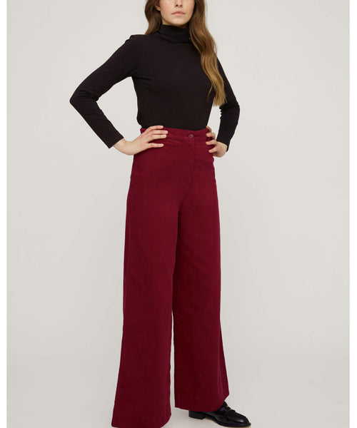 Noelle Corduroy Wide Trousers