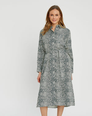 Ginny Snake Shirt Dress