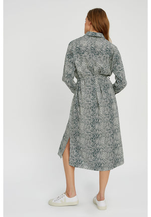 Ginny Snake Shirt Dress / S