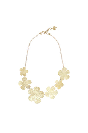 Daisy Necklace -Brass