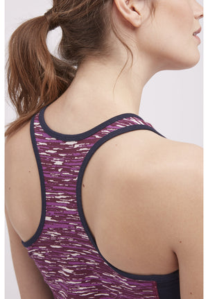 Yoga Abstract Vest In Purple XS-M