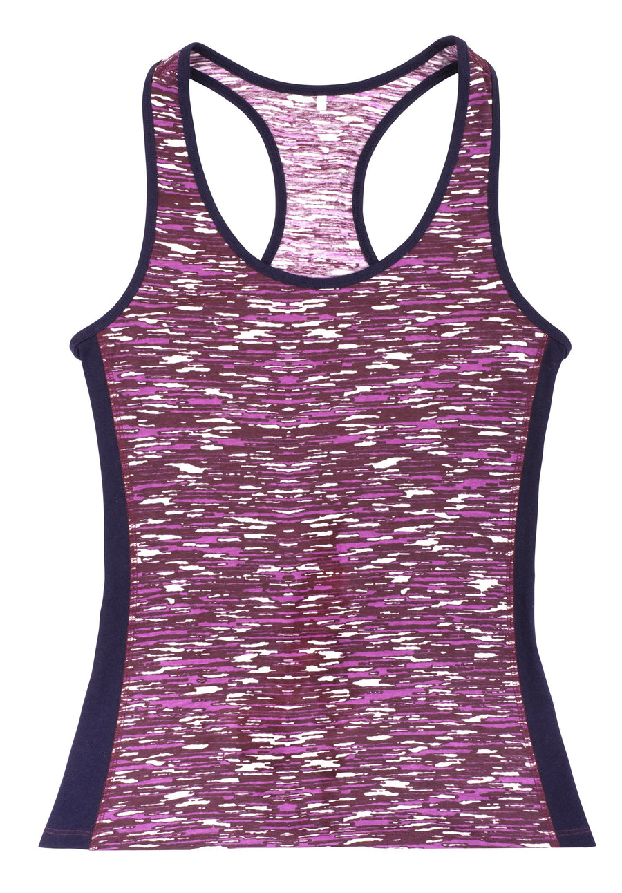 Yoga Abstract Vest In Purple