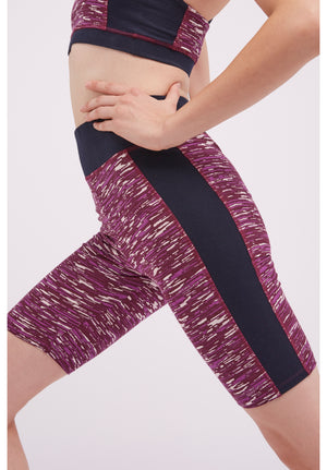 Yoga Abstract Cropped Leggings In Purple
