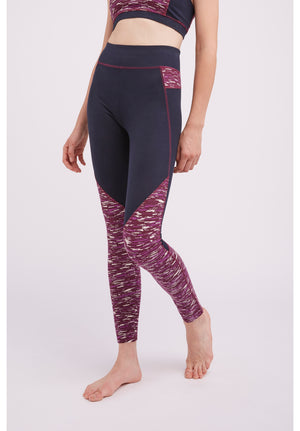 Yoga Abstract Leggings In Purple