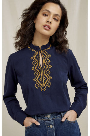 Rhona Embroidered Blouse, L