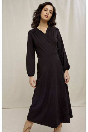 Inga Wrap Dress black