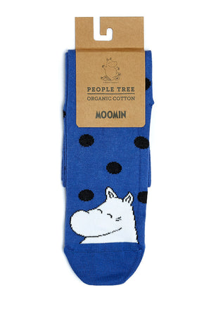 Moomin Socks in blue and dots