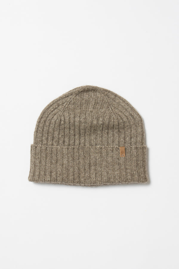 Yak Fitted Rib Hat - Oat Brown