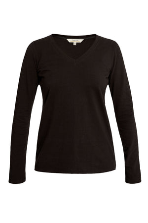 Amelie V-neck Top in Black