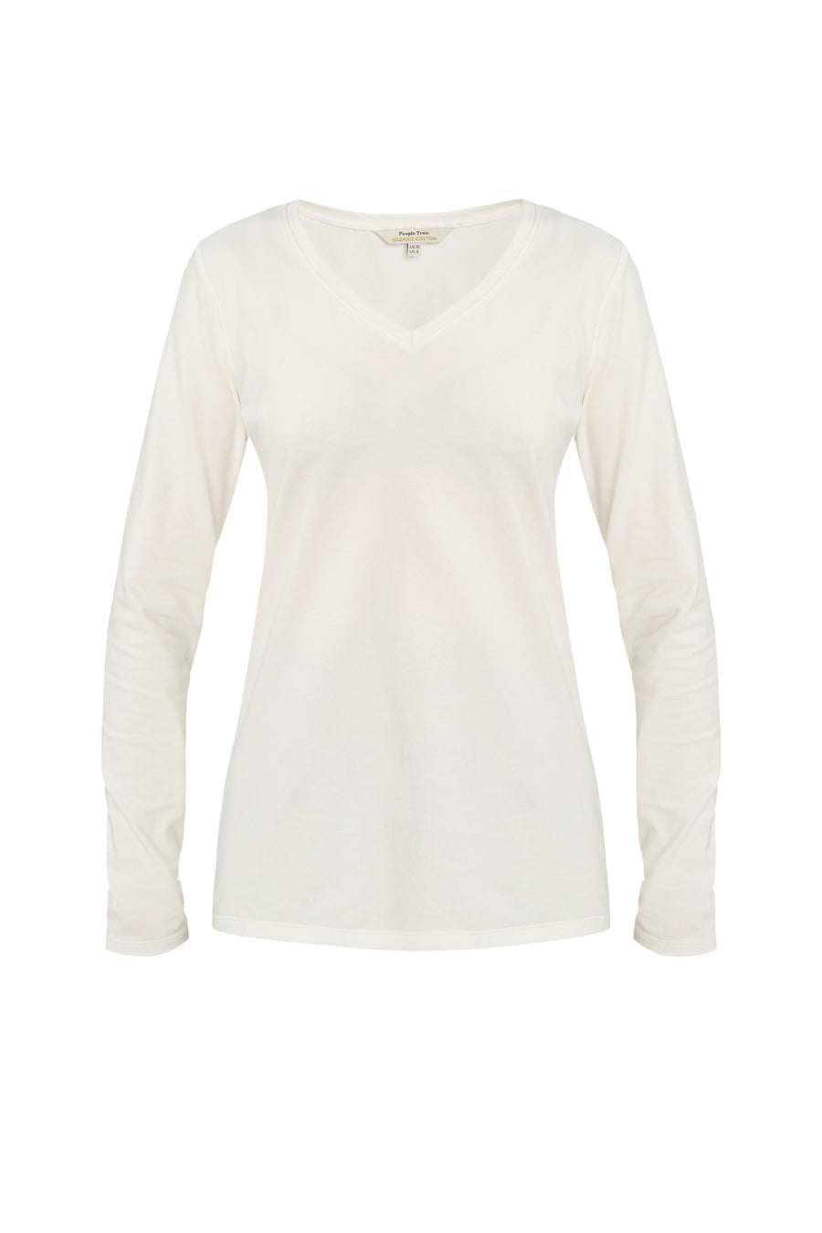 Amelie V-neck Top in White