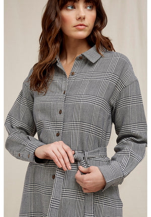 Asta Checked Shirt Dress