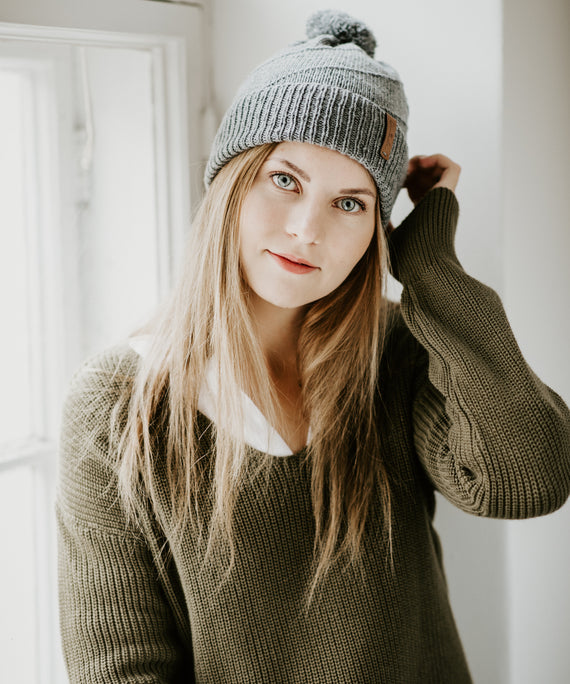 Signe Hat Pebble Grey