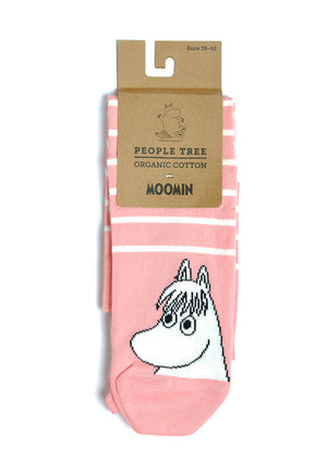 Moomin Socks Stripes Light Pink