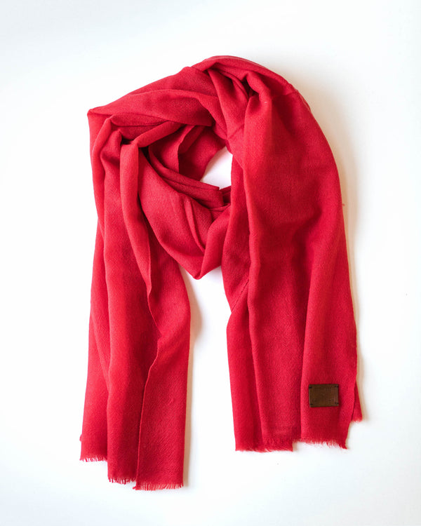 Woven Cashmere Scarf - Candy