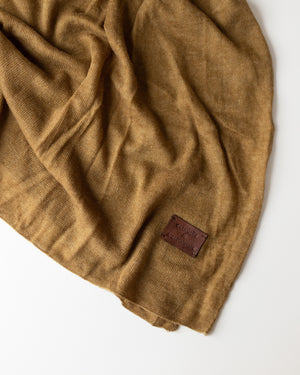 Large Knitted Cashmere Scarf - Covert