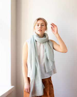 Woven Cashmere Scarf - Salvia