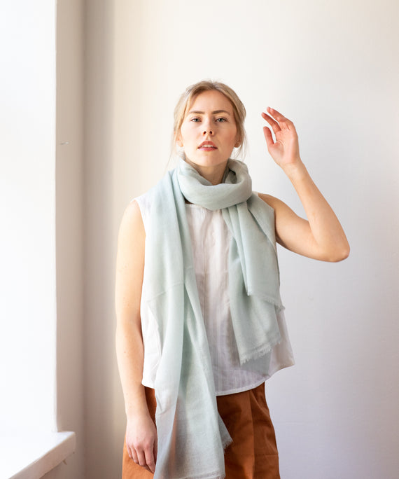 596592f79fe33 Woven Cashmere Scarf - Salvia – Store Of Hope