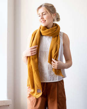 Woven Cashmere Scarf - moss