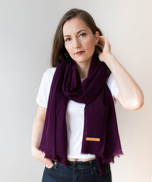 Woven Cashmere Scarf - Orchid