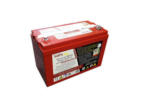 12V 100Ah Lithium Iron Phosphate Battery with BMS and safety shutdown